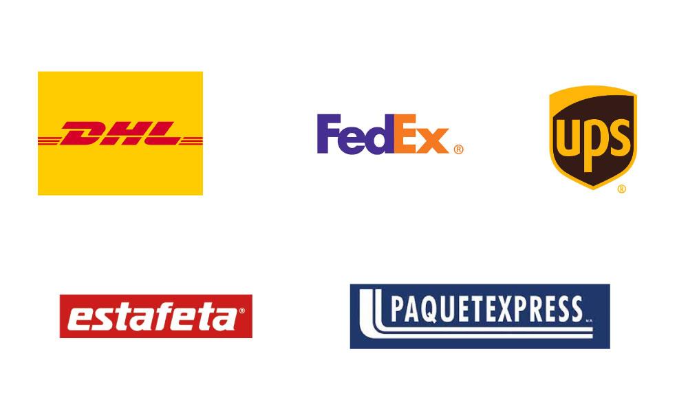 Logotipos mensajería y paquetería